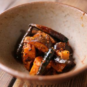 簡単本格レシピ。スパイスから作る、茄子のアチャール!