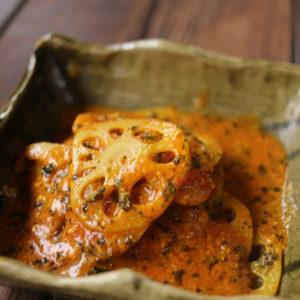 レンコンのヨーグルト煮|インドカレーに合う一品|スパイス・レシピ