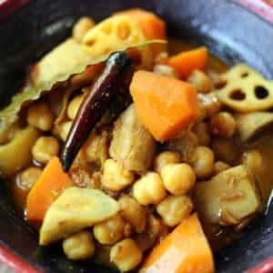 人気シリーズ!根菜のチャナマサラ