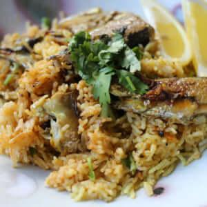 本格スパイスから作る、秋刀魚のビリヤニのレシピ